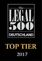 Legal500 Top Tier 2017