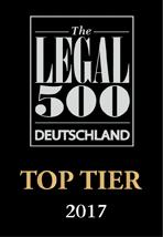 Legal500 Top Tier 2017